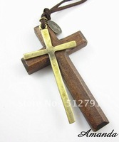 FL299/Free shipping, Retro necklace,high quality vintage lovely cross necklace,Fashion jewelry,Guarantee quality 2 years!
