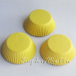 Wholesale 300pcs Newest Style Pure Yellow Greaseproof Paper Cupcake Baking Cups for Party B241 A(China (Mainland))