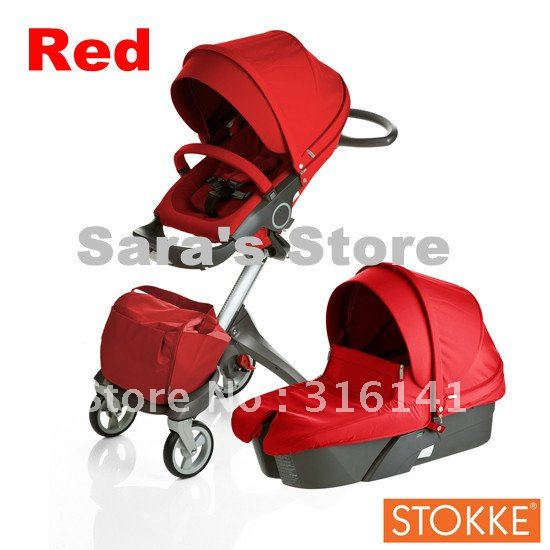 Good News,Kill price On Limited Edition Stokke,Red Stokke Xplory,Stokke Strollers Big Discount and popular !(China (Mainland))