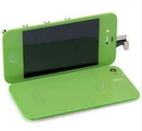 Green Touch Screen LCD Digitizer Display Glass full Assembly Set KIT+ Back case Cover HOUSING replacement for iPhone 4S