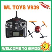 New Arrival! WL Toys V939 2.4G 4Channel 3D Mini LadyBird RC UFO