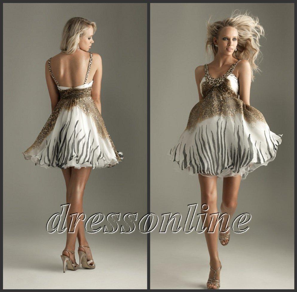 Zebra Print Short Prom Dresses 110