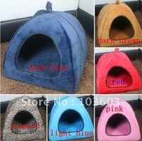 2012 new Pet dog kennel, cat warm cotton nest, dog tents house, multi-color collapsible yurts  Free Shipping