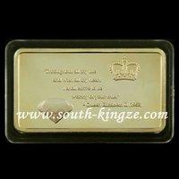 "[Hot Sale]QUEEN ELIZABETH II .Free Shipping+Wholesale 20Pcs/Lot 1 OZ 999/1000 Gold-Plated ""QUEEN'S DIAMOND JUBILEE"" Gold bullion"