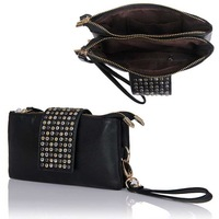 Lastest Fashion Leather Shinning Spots Evening Bag Clutch Purse Wallet Handbag b200