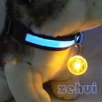 Circular Pendant Collar Puppy Led Safety Night Light Pet Dog Collar 5 Colors SL00167