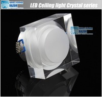Free shipping ,crystal lamp Popular high quality 3W Epistar led ceiling down lamp,high power led downlight ,330LM,2012New's rush