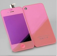 Plating Pink (LCD Digitizer Touch Screen Display Assembly+ Back Cover HOUSING+Home button) Conversion Kit for iPhone 4S