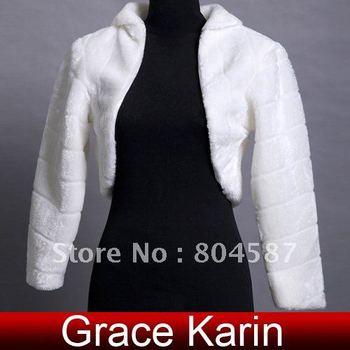 Retail Free Shipping Long Sleeve Bridal Wedding Jacket Coat Bolero Shawl Wraps CL2621