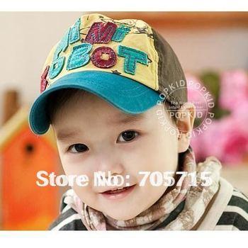 Retail Free Shipping children cap,children hat,baby hat, fashion letter baseball cap