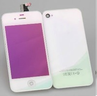 Plating Replacement LCD Assembly Touch Screen Digitizer +Back Cover HOUSING White for iPhone 4G CDMA Repair