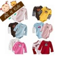 4sizes/3~12M/Can choose sizes Carter's Wiggle-in Bodysuit Long Sleeve Infant Romper Girl& Boys jumpsuit Free shipping