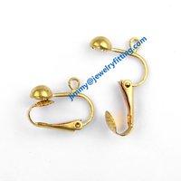 2014 New fashion jewelry findings brass lever back earring clip ear wire  clip earring fittings