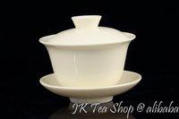 White ceramic Gaiwan, Pu Er, Jasmine Tea, 160cc/Gaiwan