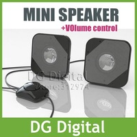 NEW coming desktop design USB Portable mini stereo speaker for laptop speaker system for notebook/ loud speaker+ Free Shiping
