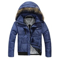 fashion men down jacket/mens winter feather warm coat/down jacket/men's down clothes+free shipping