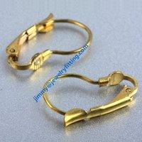 2014 Fashion jewelry findings brass leverback earring clip ear wire  clip earring fittings
