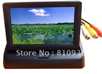 "Foldaway 4.3"" 4.3 inch TFT LCD display monitor car DVD players LCD monitor Color Car Rearview Monitor for Car Reverse camera"