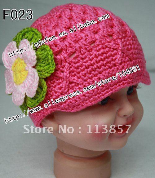 Free shipping (20/lot )100% cotton Crochet Hat Pattern girls Visor Beanie ,Newborn to Adult Photography Prop(China (Mainland))