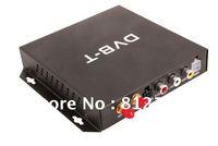 Free shipping Car DVB-T Box , MPEG4 mobile TV Receiver,Digital TV Reciever(DVB-T MPEG-4/ H.264) with Double digital TV antennas