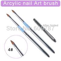 12pcs/Lot- 4# Kolinsky Sable Brush Acrylic Nail Art Builder Brush