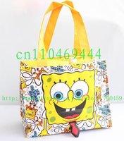 Free Shipping  1pc  spongebob Cartoon student lunch box/ lunch box / lunch/ lunch / hand bag handbag