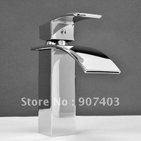 Free ems shipping 50% off ! new design waterfall basin faucet chrome finish bathroom tap mixer 1102A