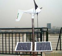 Free shipping!1000W wind solar hybrid power system,2x400W wind turbine+100W solar+controller+1000/2000wpure sine wave inverter !