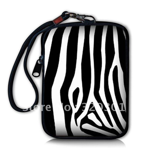 Zebra Prints Digital Camera Case Phone For iPod Bag Case Cover Pouch Coin Purse BlK(China (Mainland))