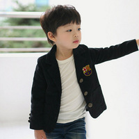 Free shipping Hot-selling spring child black blazer preppystyle blazer male child outerwear