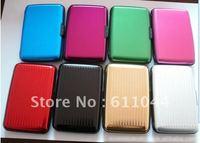 10pcs/lot  Credit card wallet cases ( 6 colors available) ,bank card case aluminum wallet