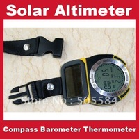 6 in 1 Digital Altimeter Outdoor barometer Compass thermometer Solar powered Multifunctional device