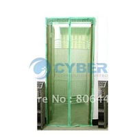 Free Shipping 2012 New Green Magnetic Stripe Mesh Prevent Mosquito Fly Screen Door Curtain