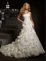 new white/ivory wedding dress custom size 6 8 10 12 14 16