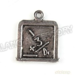 180pcs/lot New Promotion New Charms Square Antique Silver Plated Alloy Charm Pendant Fit Jewelry DIY 17*14*1mm 142797(China (Mainland))