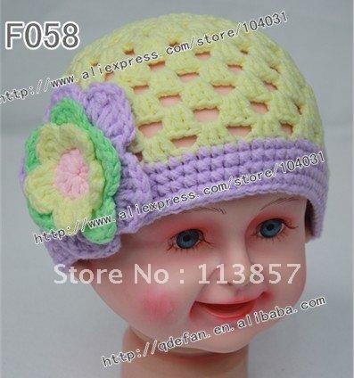 Crochet Cotton Baby Hat Pattern : Free shipping (20/lot) 100% cotton knitting patterns ...
