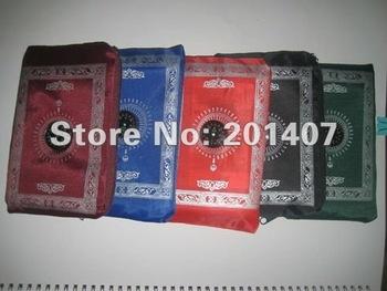 300pcs /lots  muslim islamic Pocket prayer  quran mat with compass and Qibla finder