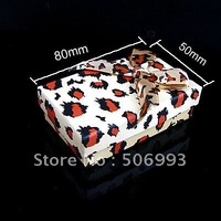 Fashion Leopard grain color  Gift Boxes with paper  24pcs/lot  HA899 80*50mm  Free shipping