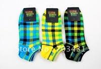 Wholesale men's socks,Korea 7colors match mans sox,check strip gentleman cotton socks,mans sports socks,free shipping,ID:A018