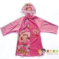 Raincoat beautiful strawberry doll child female child raincoat poncho waterproof clothing rain gear baby raincoat