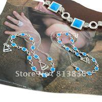 Free Shipping 2pair/lot Fashion Halo Shoulder Bra Strap Blue Rhinestone Lady' Underwear Accessories BB172-110