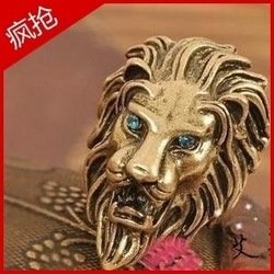 Free shipping, Min order is 15$(Mixed order)European vintage novelty lion ring, Classical costume jewelry, Promotional souvenir(China (Mainland))