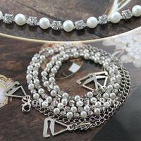 Free Shipping 2pair/lot Pearl Fashion Shoulder Bra Strap Crystal Rhinestone Imitation Metal Lady Bra Jewellery BB172-208
