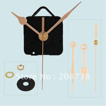 Free shipping Quartz Clock Movement Mechanism Gold Hands DIY Repair Parts Kit