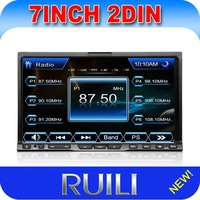"2 din 7"" inch in dash touch screen car stereo audio dvd player with GPS MP3/MP4 player"