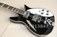 Free shipping wholesale Rick 330 381 325 model Faded black guitar model 330 Electric Guitar New Arrival   12 26