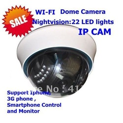 Built-in Aerial, motion detect IP CAMERA,Dome camera wireless IP camera dropping shipping(China (Mainland))