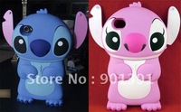 2012 New Fashion 1Pcs Lovely Cartoon 3D Stitch Hard Back Case Cover Skind For iPhone 4 4S, Free Shipping+Wholesale
