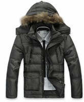 2012 new arrival men down clothes/new branded down jacket/ mens winter feather warm coat/black down jacket+free shipping