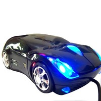 5pcs/lot colorfull light car wired mouse, computer mouse